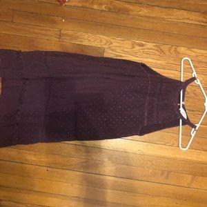 Deep purple High neck Loft Dress